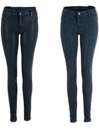 BleuLab Reversible Jeans Wendejeans in grau foil / venezian grey