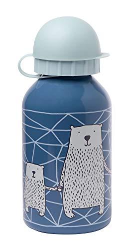 sigikid, Mädchen und Jungen, Edelstahl Trinkflasche, Motiv Eisbär, Blau, 25034