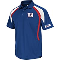 Majestic Athletic NFL Polo Shirt New York NY Giants Football Poloshirt Field Classic VI