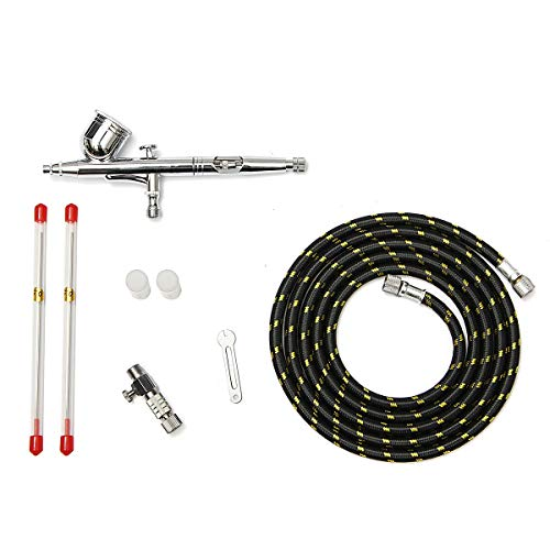 T130K Dual Action Airbrush 0,2/0,5 mm 7cc Gravity Feed-Airbrush-Spritzpistole Farbe Kit Spritzpistole