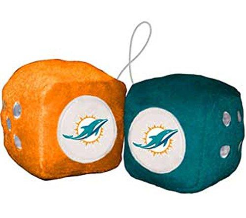 Preisvergleich Produktbild Miami Dolphins Fuzzy Dice NFL Football Team Logo Plüsch KFZ LKW Auto