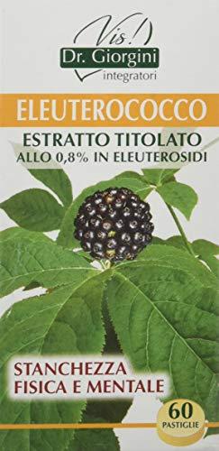 Dr. Giorgini Integratore Alimentare, Monocomponenti Erbe Eleuterococco Estratto Titolato Allo 0,8% in Eleuterosidi Pastiglie - 30 g