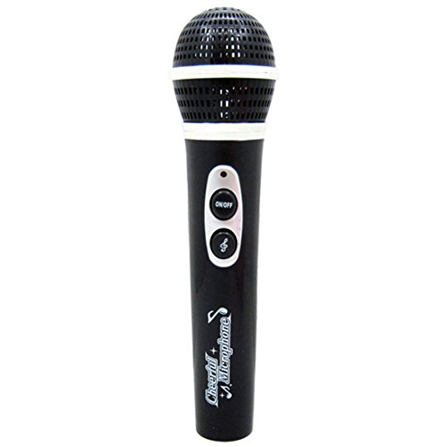 microfono, Wolfbush Microfono senza fili con amplificatore Mic Karaoke di canto Wireless Microphone with Amplify Mic Karaoke Singing Kid Funny Gift Music Toy 1309 - Black
