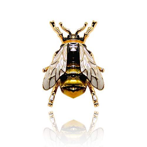 WikiMiu Brosche Damen, Kleine Bienen Brosche, Legierung Ölgemälde Tierbrosche für Frauen (Gelb)