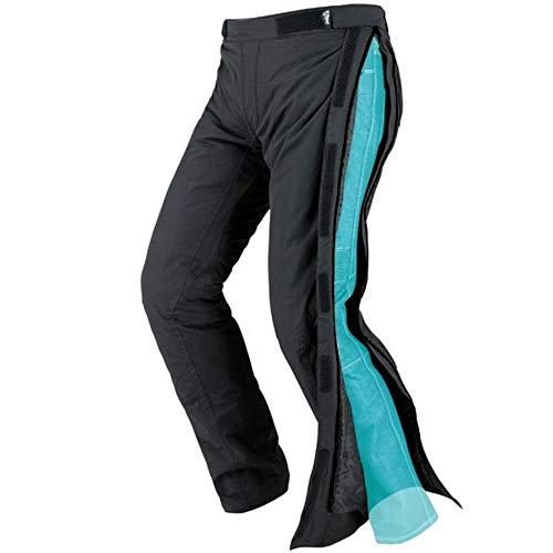 "JET Pantalones de moto motocicleta textiles impermeable con armadura Zipper (56 Largo/Cintura 40"" Longitud 34""(3XL), Negro)"