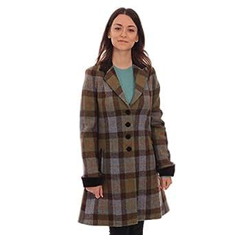 Ladies harris tweed jacket tara green brown check for Ladies brown check shirt