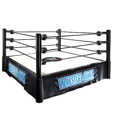 WWE Wrestlemania Superstar-Ring - Spielset mit The Rock & John Cena Figuren [UK Import]