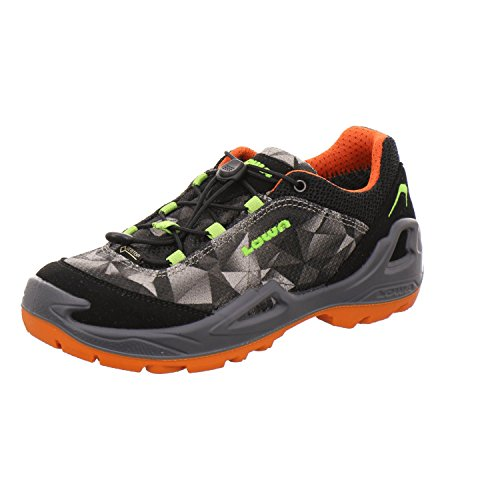Lowa Ticino GTX Lo Junior Jeans Orange Schwarz