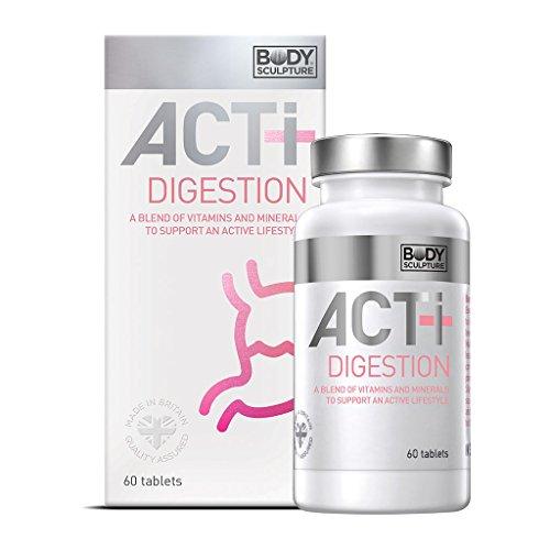 ACTI+ Digestion 60 Tabletten 5 Enzyme für Verdauung & Soffwechsel - Amylase Protease Laktase Lipase Cellulase