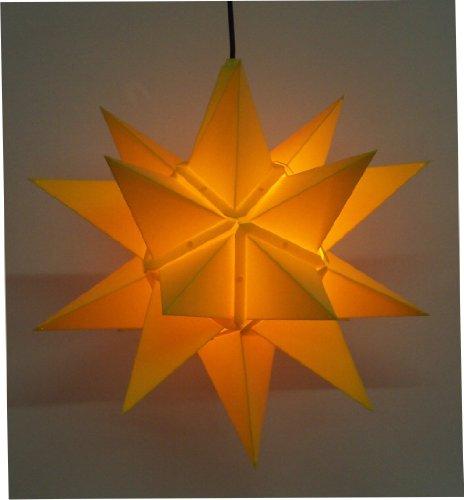 Unbekannt Sigro Außerhalb 20eckige Fenster Star inkl. Beleuchtung, 60cm, gelb, 30x 60x 30cm