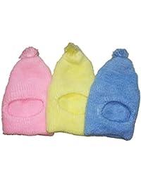 Baby Unisex Woolen Monkey Cap Winter Wear for 0-12 Month Infant (Pack of 3 Piece) (Monkey Cap)