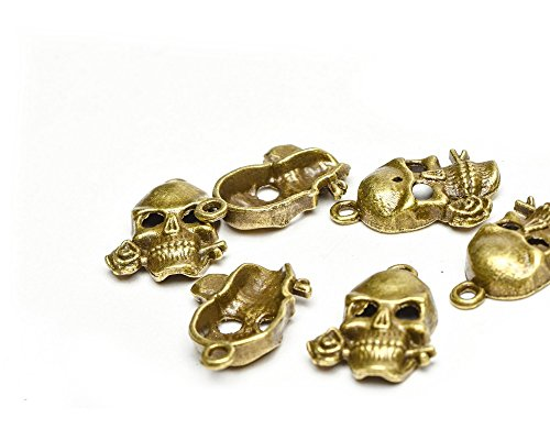Beads Unlimited Metal 20 x 16 mm Steampunk diseño de calavera en...