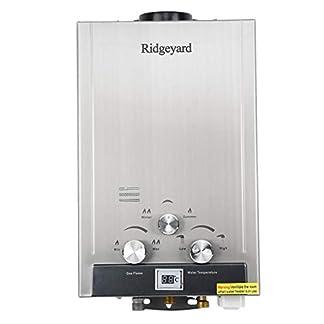iglobalbuy 8L Gas Natural Calentador instantáneo caliente calentador de agua calentador de agua con alcachofa de ducha