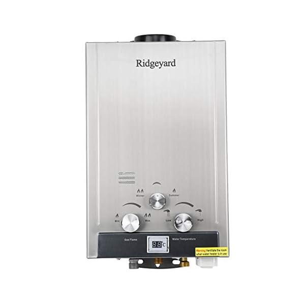 Iglobalbuy – Caldera sin depósito, calentador de agua, gas natural instantáneo, con alcachofa de ducha, 8 L