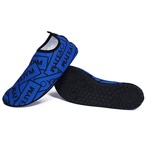 Da Pele Kasit mergulho Sapatos Para De Unisex Azul Água Exercício De Surf De Descalços Yoga Praia AfxxUWBn