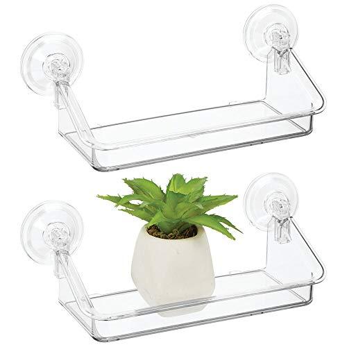 MDesign Juego de 2 estantes de pared pequeños - Práctica estantería flotante, ideal para colgarla...