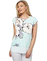 Roman Originals - T-shirt Doublé Motif à Fleurs Abstrait - Bleu