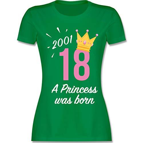 Geburtstag - 18 Geburtstag Mädchen Princess 2001 - XXL - Grün - L191 - Damen Tshirt und Frauen T-Shirt -