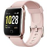 Willful Smartwatch,Pantalla de 1,3 Pulgadas Reloj Inteligente Impermeable IP68 con Pulsómetros para Mujer Hombre, Pulsera de