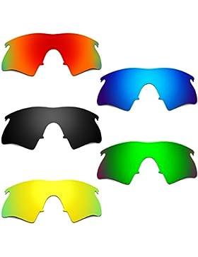 Hkuco Mens Replacement Lenses For Oakley M Frame Heater Red/Blue/Black/24K Gold/Emerald Green Sunglasses