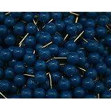Amanaote 0,79 cm azul chinchetas malhumor mapa tachuelas cabeza redonda tachuela chinchetas (200 unidades)