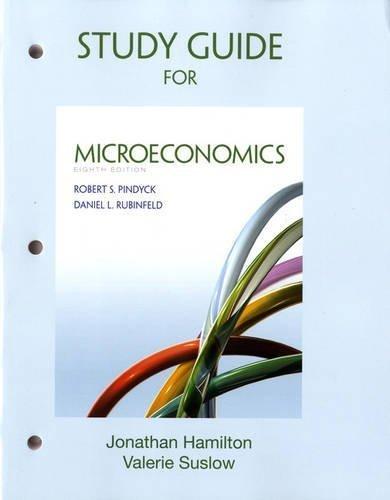Study Guide for Microeconomics by Pindyck, Robert, Rubinfeld, Daniel (2012) Paperback
