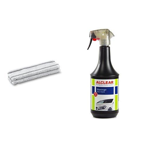 Kärcher 2 WV Microfaserwischbezuege, 2.633-100.0 und ALCLEAR 721GR Glasreiniger 1.000 ml
