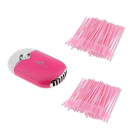 MagiDeal 100piece Jambières Mascara Eyelash Jetables + Eyelash Extension Glue Sèche-linge Ventilateur