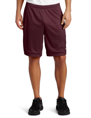 3.7 oz. Mesh Short with Pockets MAROON M (Lange Mesh Pocket Shorts)