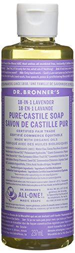 Dr. Bronner's Naturseife - Flüssigseife - Lavendel - 240 ml Nachfüllflasche - Dr. Bronners Seife Lavendel