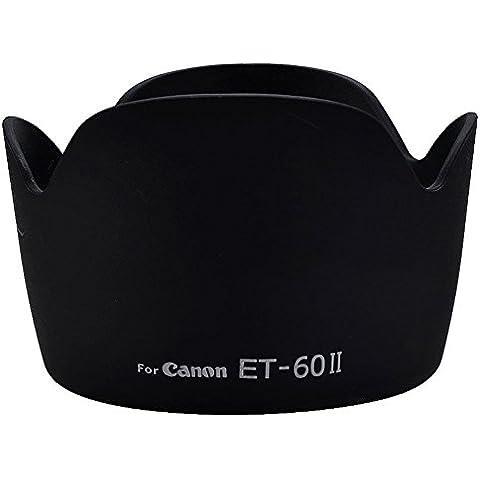 TOOGOO(R)ET-60 II Flor parasol para Canon EF 75-300mm f/4.0-5.6 Negro