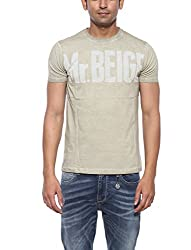 Pepe Jeans Mens Beige Slim Fit Tshirts (Small)