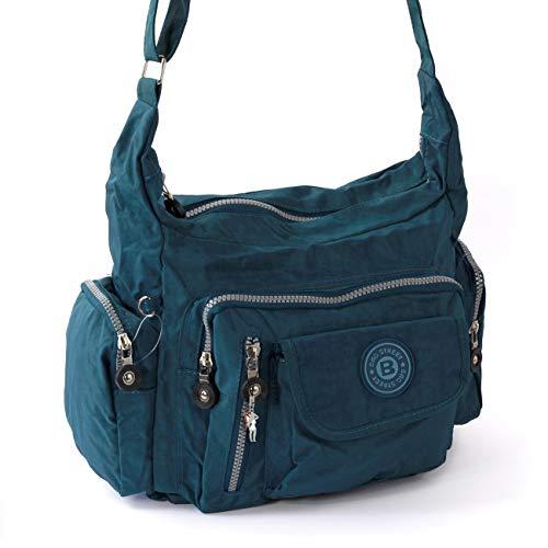 Bag Street Umhängetasche Bodybag Nylon, ohne, Blau