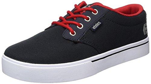 Etnies Kids Jameson 2 Eco, Chaussures de Skateboard mixte enfant Bleu - Blau (465 / NAVY/RED/WHITE)
