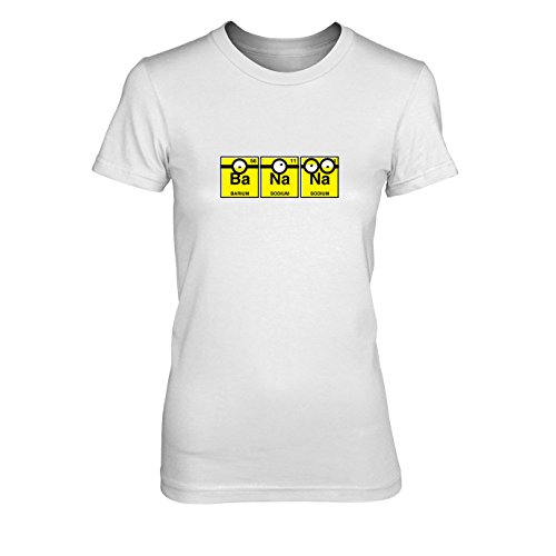 Minion Me Dave 2 Kostüm Despicable - Banana Chemistry - Damen T-Shirt, Größe: L, Farbe: weiß