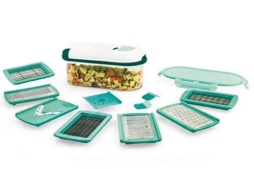Takestop® affettatutto ready trita verdure con contenitore 8 funzioni tagliatutto taglia affetta verdure frutta grattugia galielo