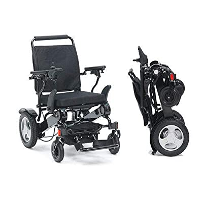 Electric Lightweight Folding Wheelchair Indoor/Outdoor Lithium Battery Sliver