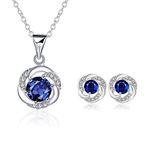 LDUDU® Conjunto Joyas Mujer Diseño clasico con cristales austriacos