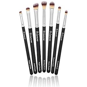 Bestes Augen Make Up Pinselset - 7 Makeup Augenpinsel Lidschattenpinsel und Schminkpinsel - Beauty Pinsel Set zum Verblenden von Lidschatten, Kosmetik Puder, Highlighter und Concealer