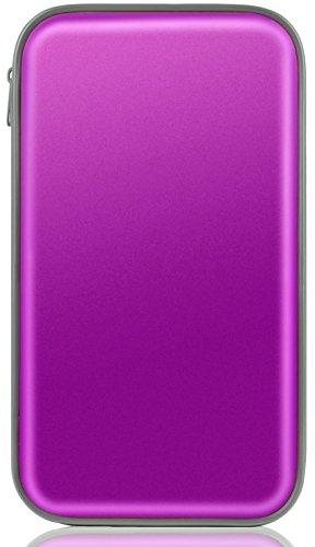 Tinksky 80 pcs Stockage DVD Stockage de disque dur en plastique protecteur (violet)