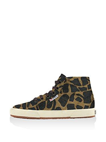 Superga 2095-Plus Leahorsew, Sneaker, Donna BEIGE-DK BROWN FOW