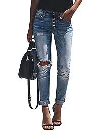 jetzt kaufen klassischer Chic vorbestellen Suchergebnis auf Amazon.de für: Boyfriend Jeans mit Löchern ...