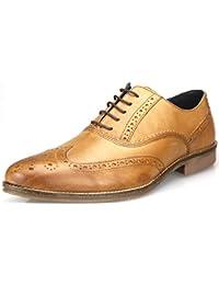 Red Tape - Chaussures à lacets habillés en cuir pour homme - Fauve/bordeaux/marron/noir