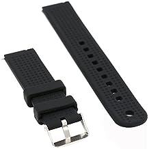 Woodln Watchbands Banda Pulsera Correa de Reloj Inteligente Smartwatch Correa para Motorola Moto 360 2nd Gen 42mm (Black)