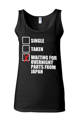 Waiting For Overnight Parts From Japan Single Taken Novelty White Femme Women Tricot de Corps Tank Top Vest *Noir