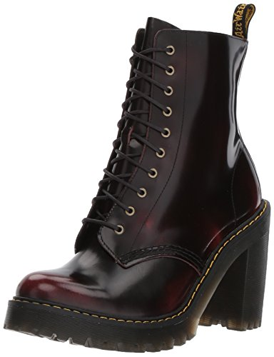 Dr.Martens Womens Kendra 10-Eyelet Cherry Red Leather Boots 41 EU (Boots Ankle Eyelet)