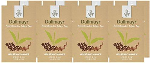 Dallmayr Aromatisierter Grüntee – China Sencha Ginseng – Ingwer, 8er Pack (8 x 100 g )