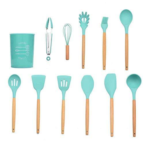 HHOME 9/10/12pcs Silicone Cooking Tools Set Premium Kitchen Cooking Utensils Set with Storage Box Turner...