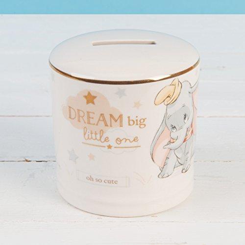 Widdop Co. Disney Magische Anfängen Keramik Spardose Bank, mit Gold Detail–Dumbo (Disney Keramik)