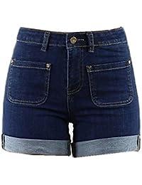 Short en jean taille haute avec poches